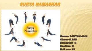 'surya namaskar' on slideshare