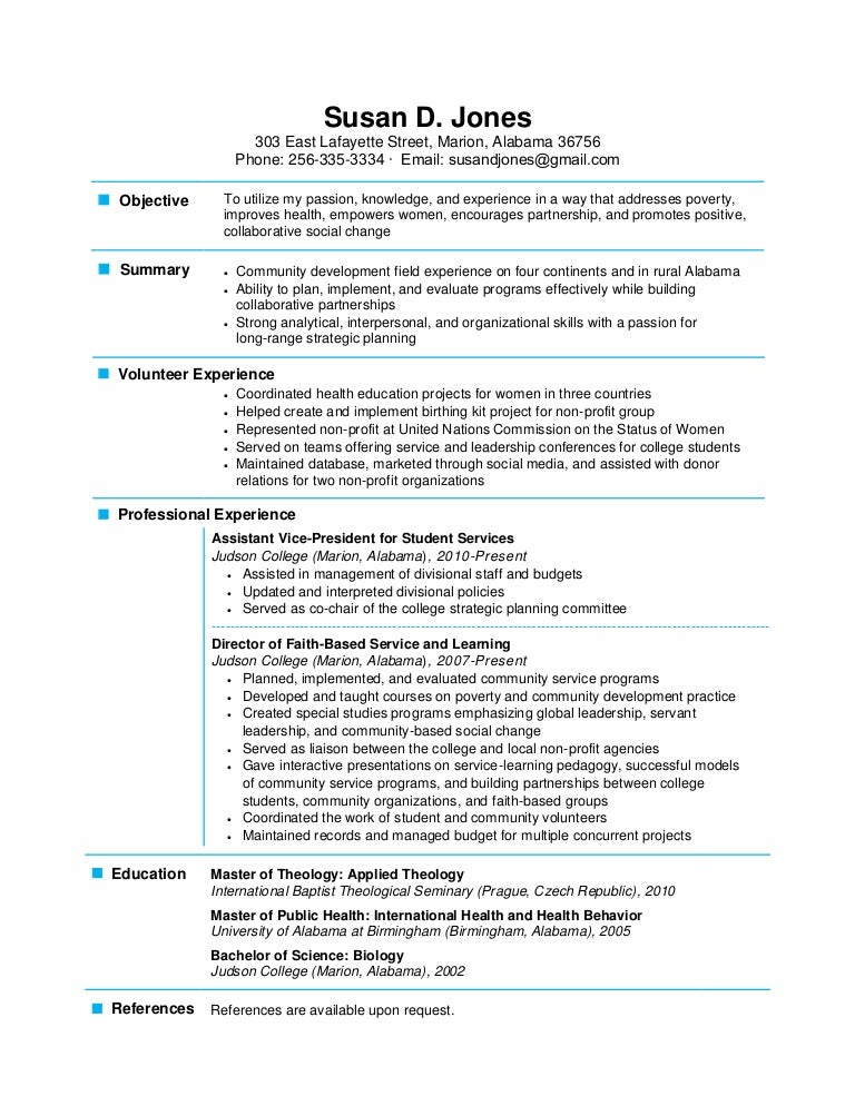 Page Resume Examples Format For A Resume Example Sample Resume