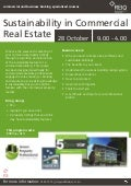 Sustainability in Commercial Real Estate