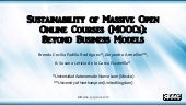 MOOC Sustainability: Beyond Business Models