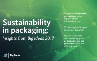 Sustainability in Packaging: Insight from Big Ideas 2017
