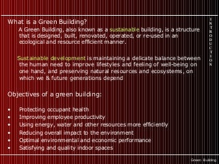 Green building - Introduction & general ideas