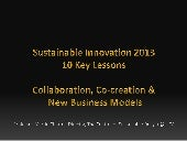 Sustainable innovation-2013-key-lessons