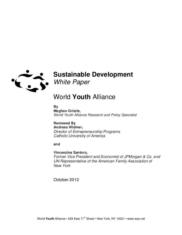 Sustainable development essay