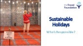 Sustainable holidays who's responsible salli felton