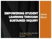 Empowering student learning through sustained inquiry