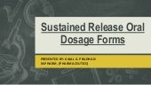 Sustained release oral dosage forms