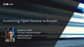 Sustaining Open Source Software