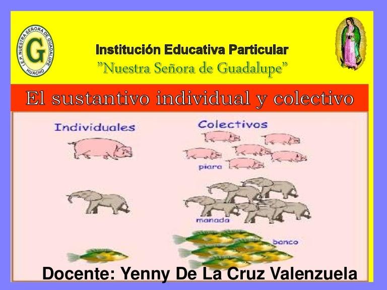 sustantivo individual y colectivo