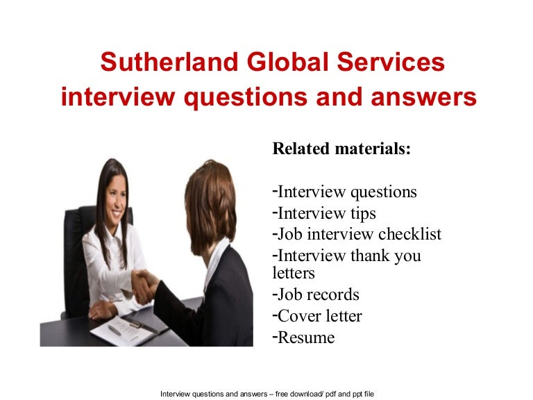 sutherland global services interview questions and answers - Call Center Interview Questions Answers Tips