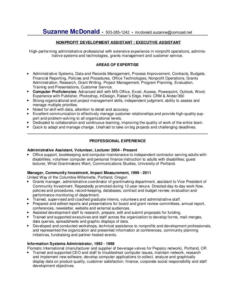 suzanne mcdonald resume
