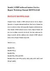 Suzuki 2-15HP outboard motors Service Repair Workshop Manual DOWNLOAD