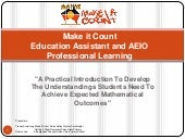 EA and AIEO Professional Learning: Develop mathematical understanding