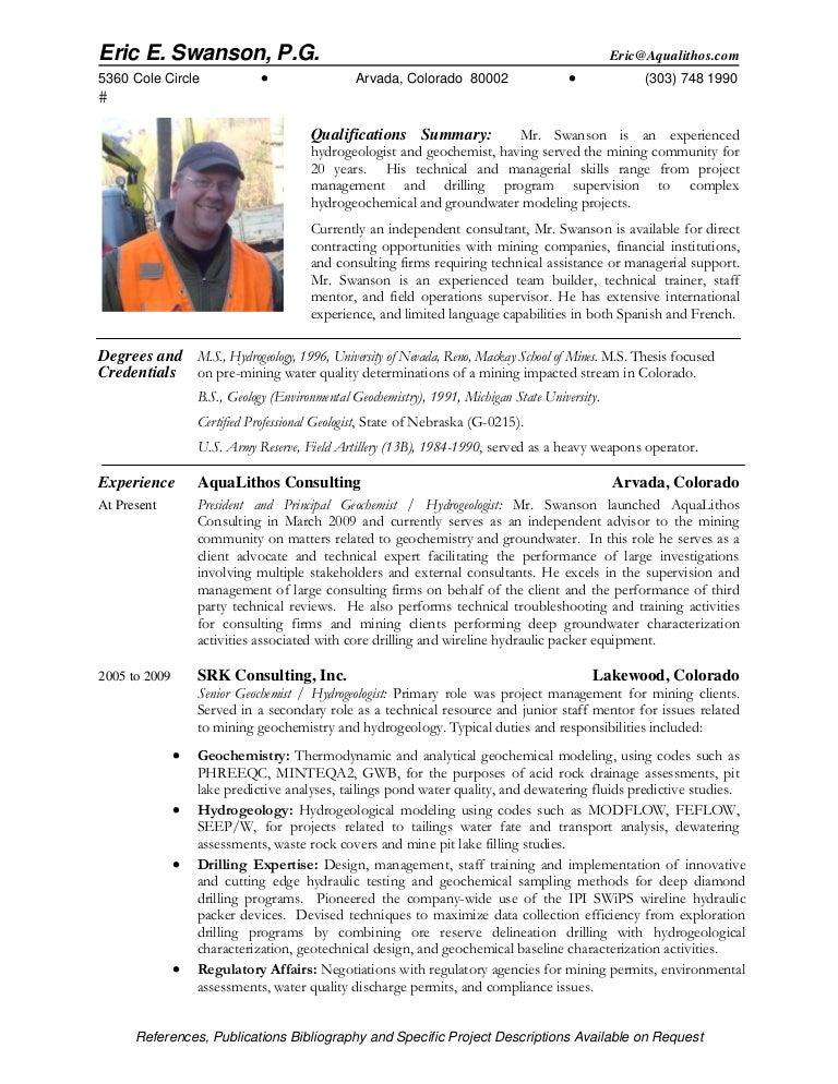 geologist resume geologist resume samples visualcv resume samples - Geologist Resume Template