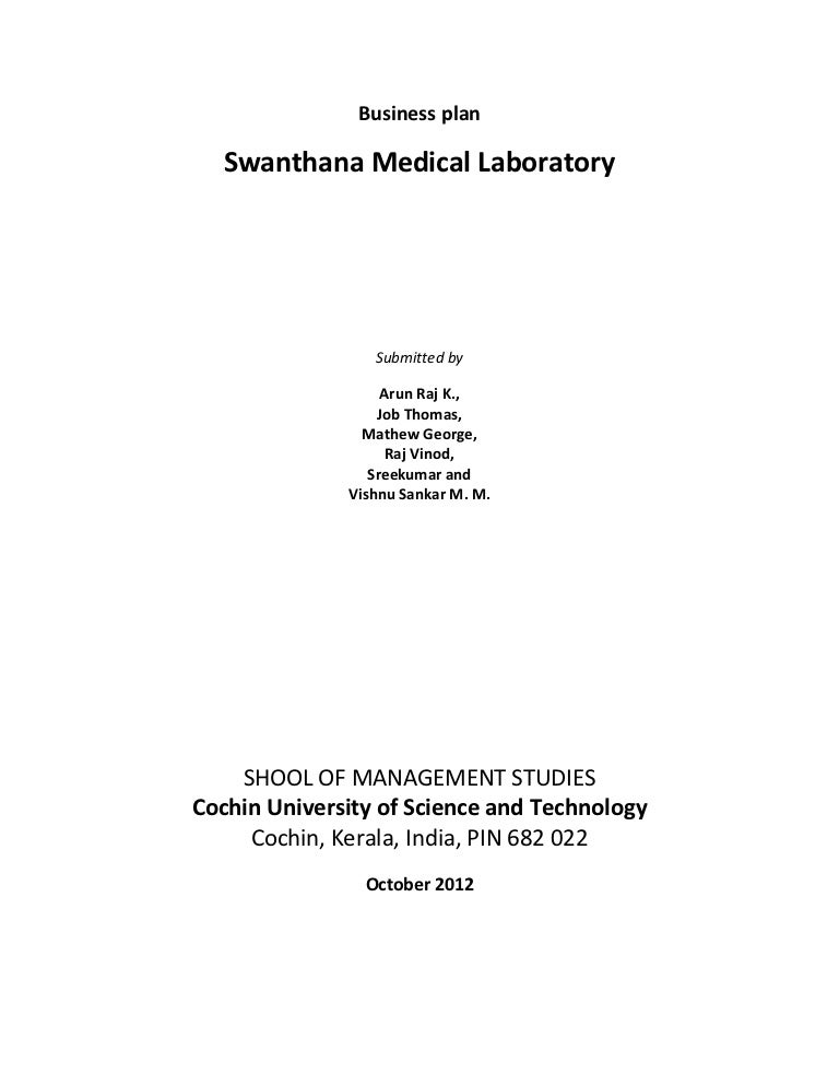 business plan swanthana medical laboratory