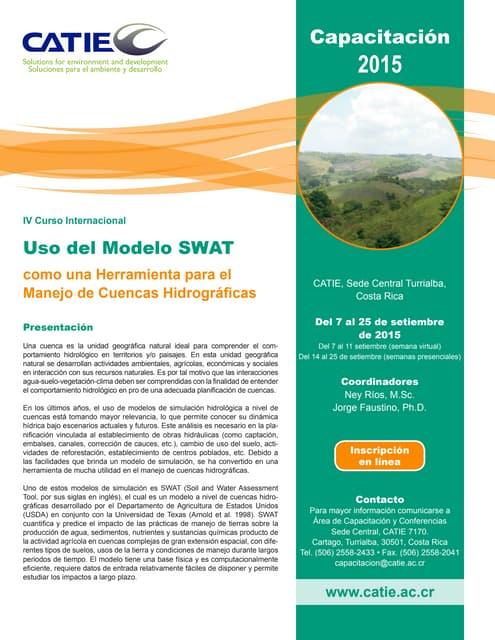 Swat 2015: Manejo de cuencas hidrográficas