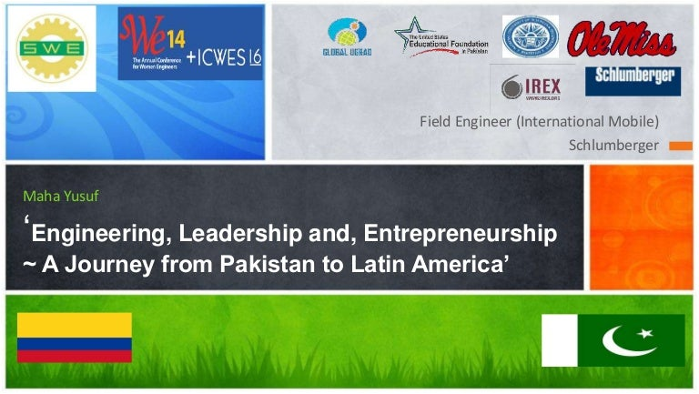 swe14 annual conference talk engineering leadership and entrepre - Schluberger Field Engineer Sample Resume