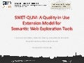 SWET­‐QUM: A Quality in Use Extension Model for Semantic Web Exploration Tools