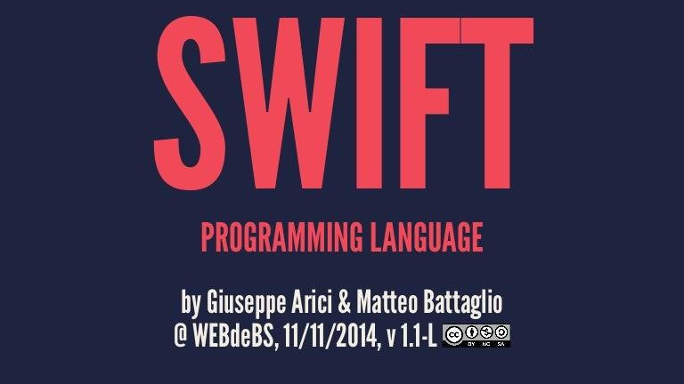 Introduzione al linguaggio Swift | Guida Swift | Mobile ...