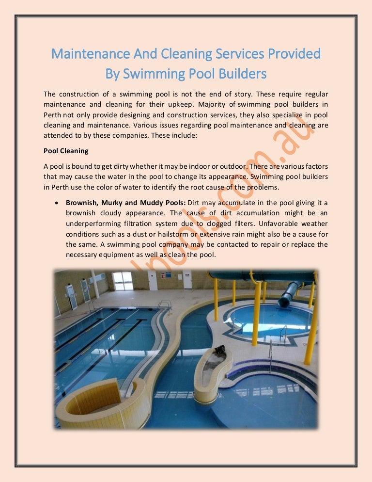 Swimming Pool Builders Perth