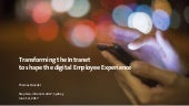 Transforming the Intranet to shape the digital Employee Experience