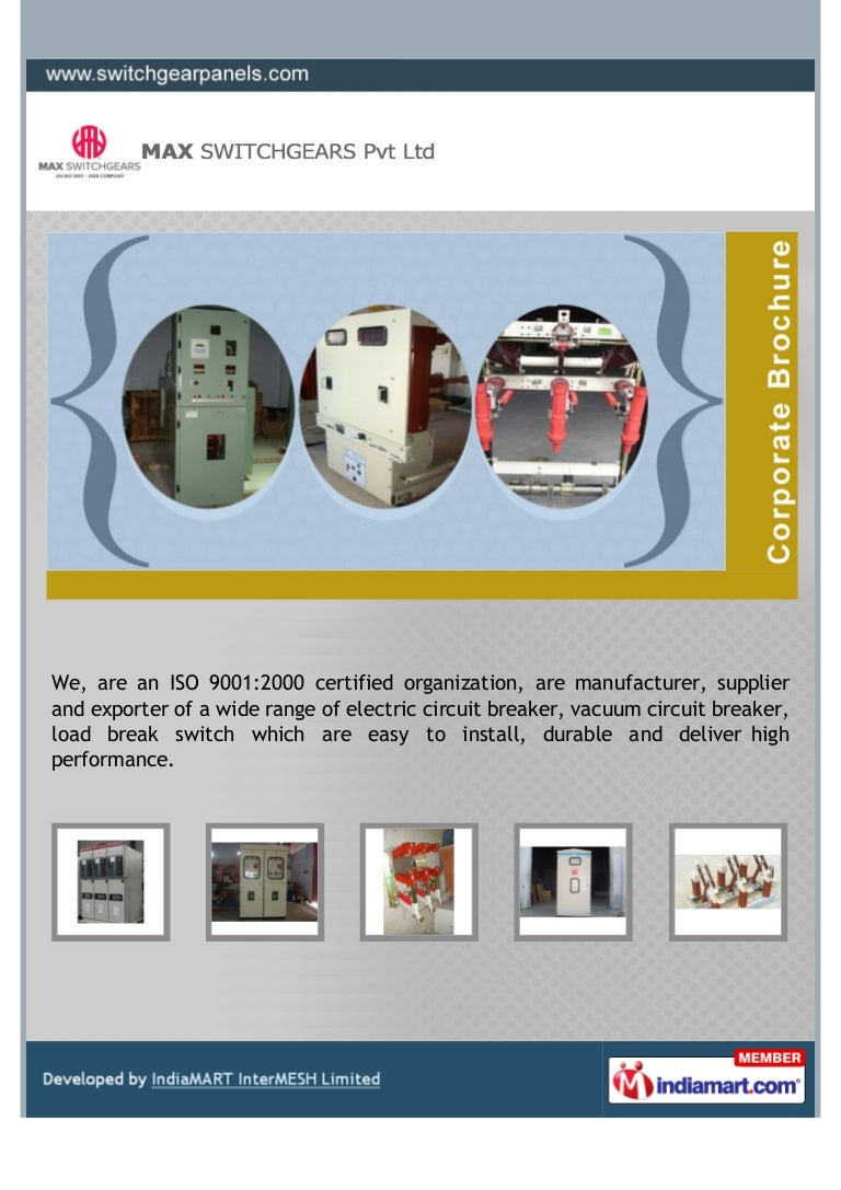 Max Switchgears Private Limited Coimbatore Electric Circuit Breaker Circuits Website