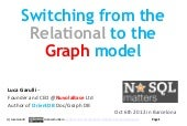Switching from the Relational to the Graph model
