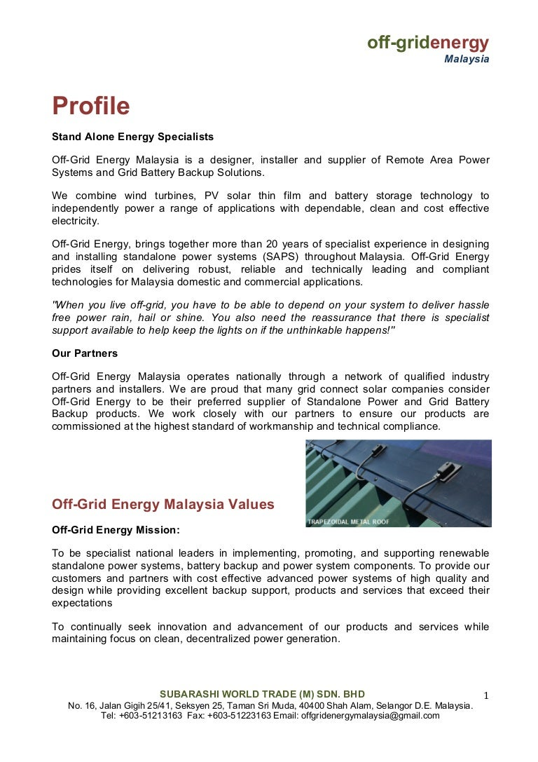Off Grid Energy Malaysia Solar Panel Wiring Guide