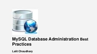 MySQL DBA