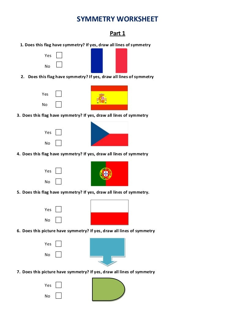 Symmetry Worksheet Poland