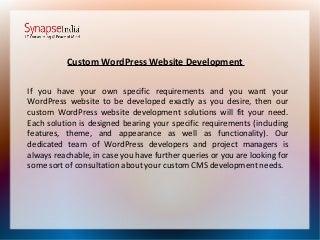 SynapseIndia wordpress development company
