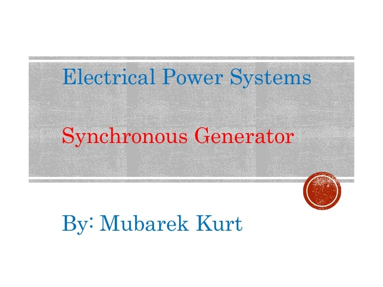 Awesome Electrical Power Systems Synchronous Generator Wiring Digital Resources Bemuashebarightsorg