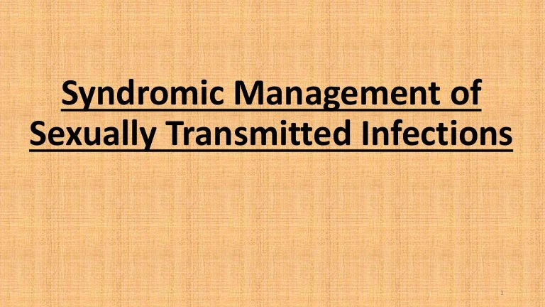 Syndromic management sexually transmitted infections