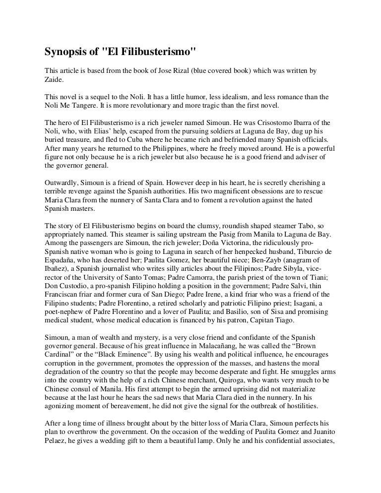 el filibusterismo summary per chapter english