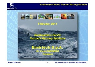 Southeastern Pacific Tsunami Warning Solutions
