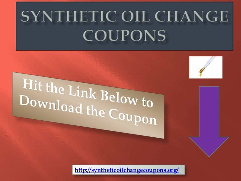 Synthetic oil change discounts - Best gym in plymouth
