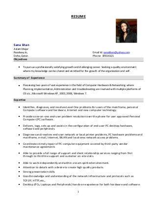 Resume Format | Linkedin