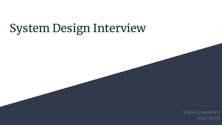 System Design Interview Prep