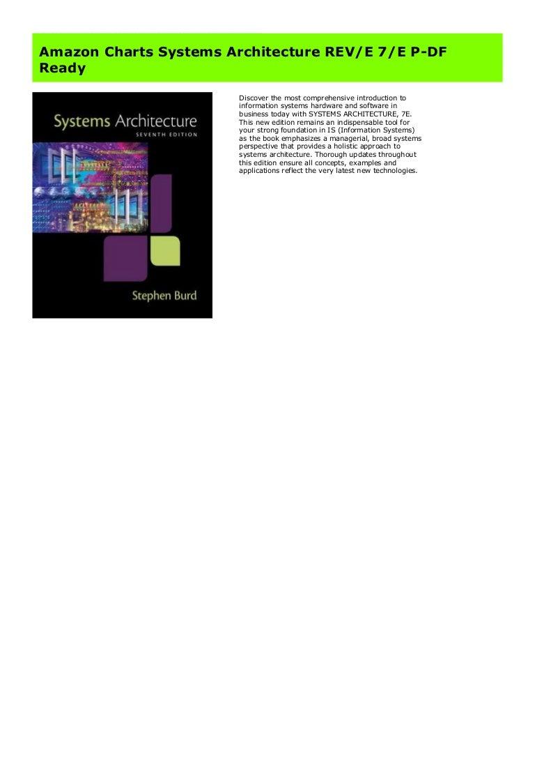 Amazon Charts Systems Architecture REV/E 20/E P DF Ready