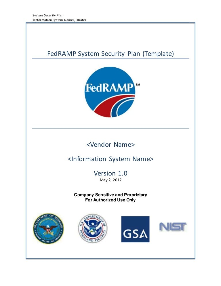 FedRAMP System Security Plan Template – Security Plan Template