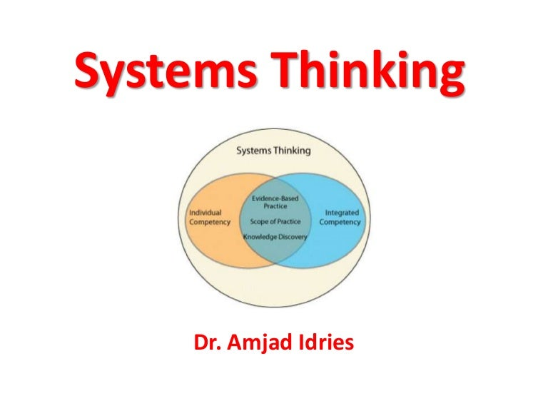 systems thinking Systems thinking is a holistic approach to analysis that focuses on the way that a  system's constituent parts interrelate and how systems work over time and.