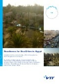 Readiness for EcoCities in Egypt. Insights into the current state of EcoCity systems, technologies and concepts