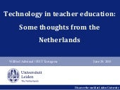 FIETxs2015: Dr. Wilfried Admiraal, chair of the research program Teaching & Teacher Learning, Universiteit Leiden