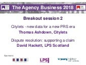 The Agency Business 2018 slides - breakout session 2
