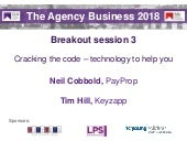 The Agency Business 2018 slides - breakout session 3