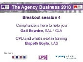 The Agency Business 2018 slides -  breakout session 4