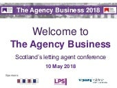 The Agency Business 2018 slides  - main speaker hall