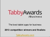 The Tabby Awards business 2013 winners and finalists