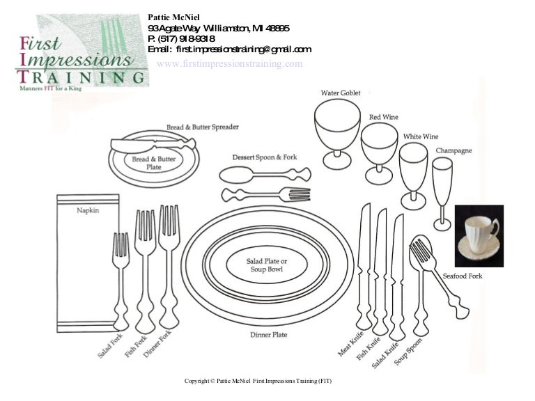 Proper Place Setting in Business