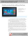 Comparing tablets in common workplace scenarios: Intel Core i5 vPro processor-based Microsoft Windows 8 tablet vs. Apple iPad